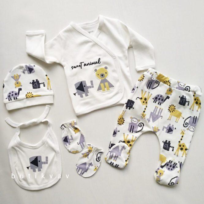erkek bebek cool zoo 5 li hastane cikisi kopya 02 scaled - Erkek Bebek Hayvan Dostlar 5'li Hastane Çıkışı