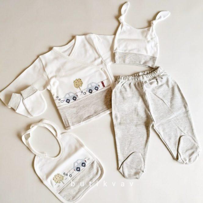 gaye bebe erkek bebek trafik islemeli 5 li hastane cikisi gri 01 scaled - Gaye Bebe Erkek Bebek Trafik İşlemeli 5'li Hastane Çıkışı - Gri