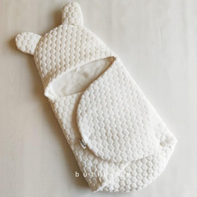 kiz bebek citcitli fluffy kundak 0 6 ay kopya 01 - Bebitof Bebek Çıtçıtlı Fluffy Kundak 0-6 ay Krem