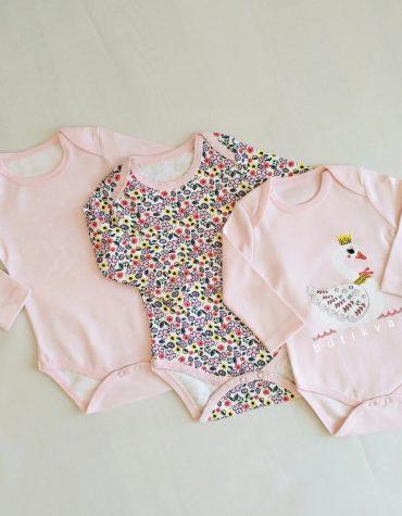 kiz bebek 3 lu citcitli badi 6 9 ay 02 scaled - Kız Bebek 3'lü Çıtçıtlı Badi 0-3 Ay