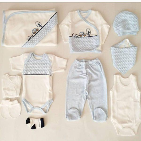 bebelinna erkek bebek trafik suslemeli 10 lu hastane cikisi mavi 02 scaled - Bebelinna Erkek Bebek Trafik Süslemeli 10'lu Hastane Çıkışı - Mavi