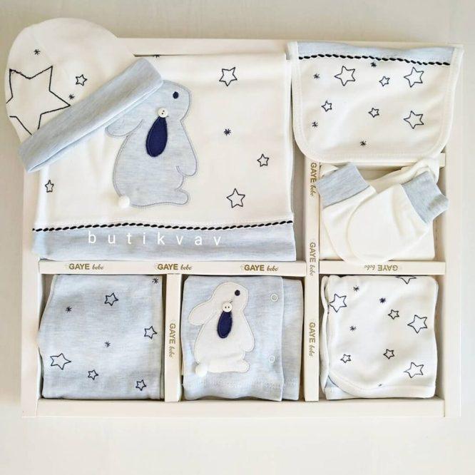 gaye bebe tavsan yildizlar 10 lu hastane cikisi gri kopya 01 scaled - Gaye Bebe Tavşan & Yıldızlar 10'lu Hastane Çıkışı Mavi