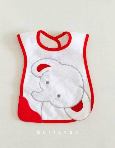 bebelinna cuf cuf tren yelek 3 6 ay 02 scaled - Diş Kaşıyıcılı Bebek Önlüğü Kırmızı