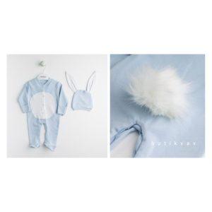 erkek bebek tavsan tulum battaniye seti mavi 04 scaled - Erkek Bebek Tavşan Kulak Tulum Seti 0-3 ay