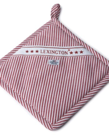 Lexington Striped Oxford Potholder Red