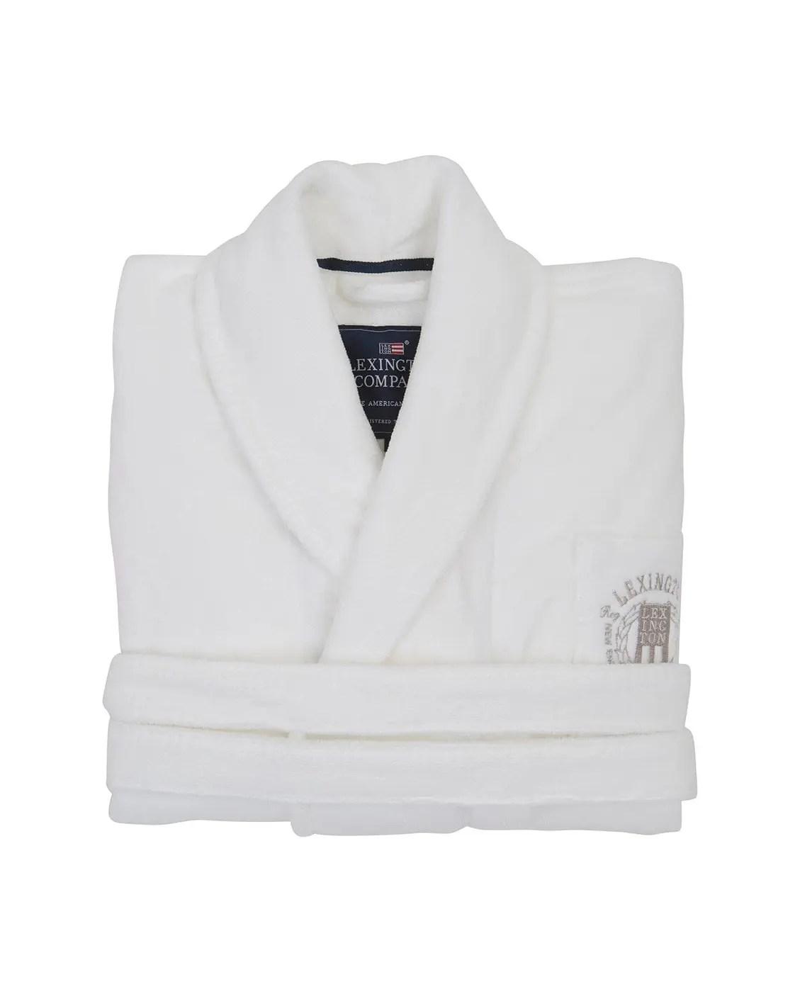 Hem   Webbshop   Badrum   Textil   Badrockar   Lexington Hotel Velour Robe  White S 74d2d872fa345