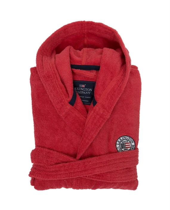 Lexington Terry Robe Unisex Red