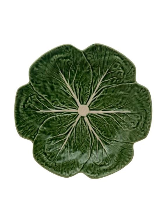 Bordallo Pinheiro Grönkål tallrik 26.5cm grön