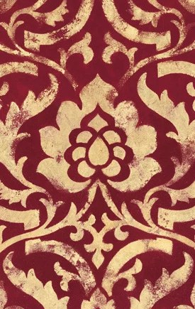 Caspari Servetter Baroque Red