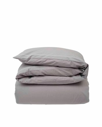 Lexington Hotel Percale White/Gray Duvet