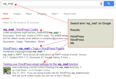 Working with the WordPress email function wp_mail