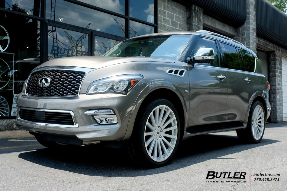 Infiniti Qx80 With 24in Black Rhino Spear Wheels