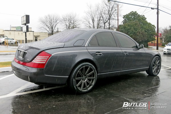 Maybach 57S with 22in Vossen CV4 Wheels exclusively from ...