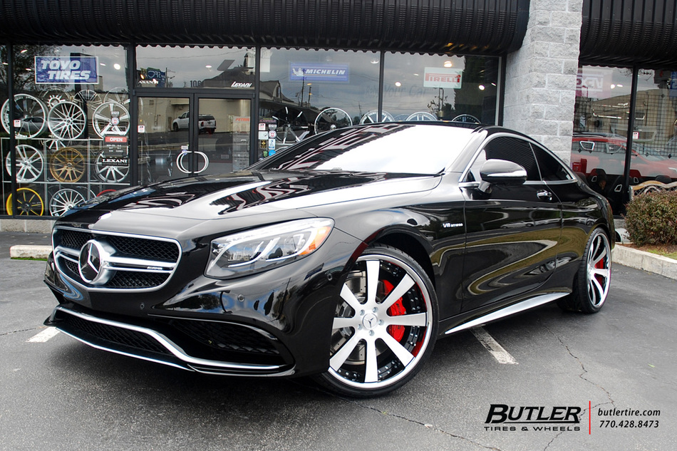 Mercedes S Class Coupe With 22in Savini SV28 Wheels