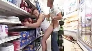 2 hot guys fuck in a grocery store.