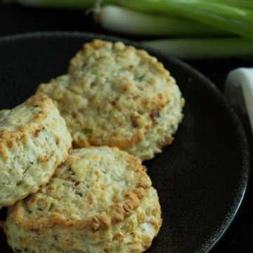 Bacon Gruyere and Green Onion Scones image