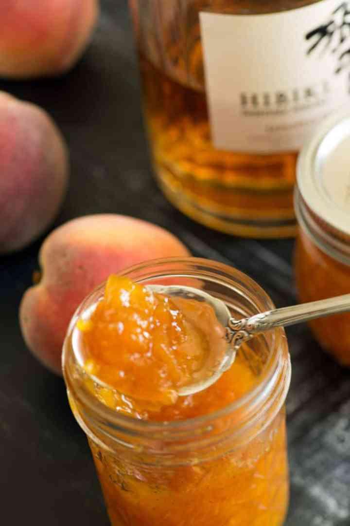A jar of Peach Vanilla Jam