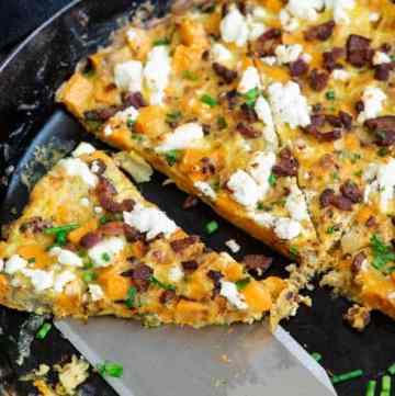 A slice of Sweet Potato Frittata