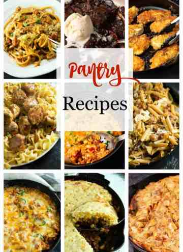 A collage of photos of diners you can make with pantry items