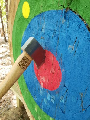 Axe Throwing at Butter and Egg Adventures