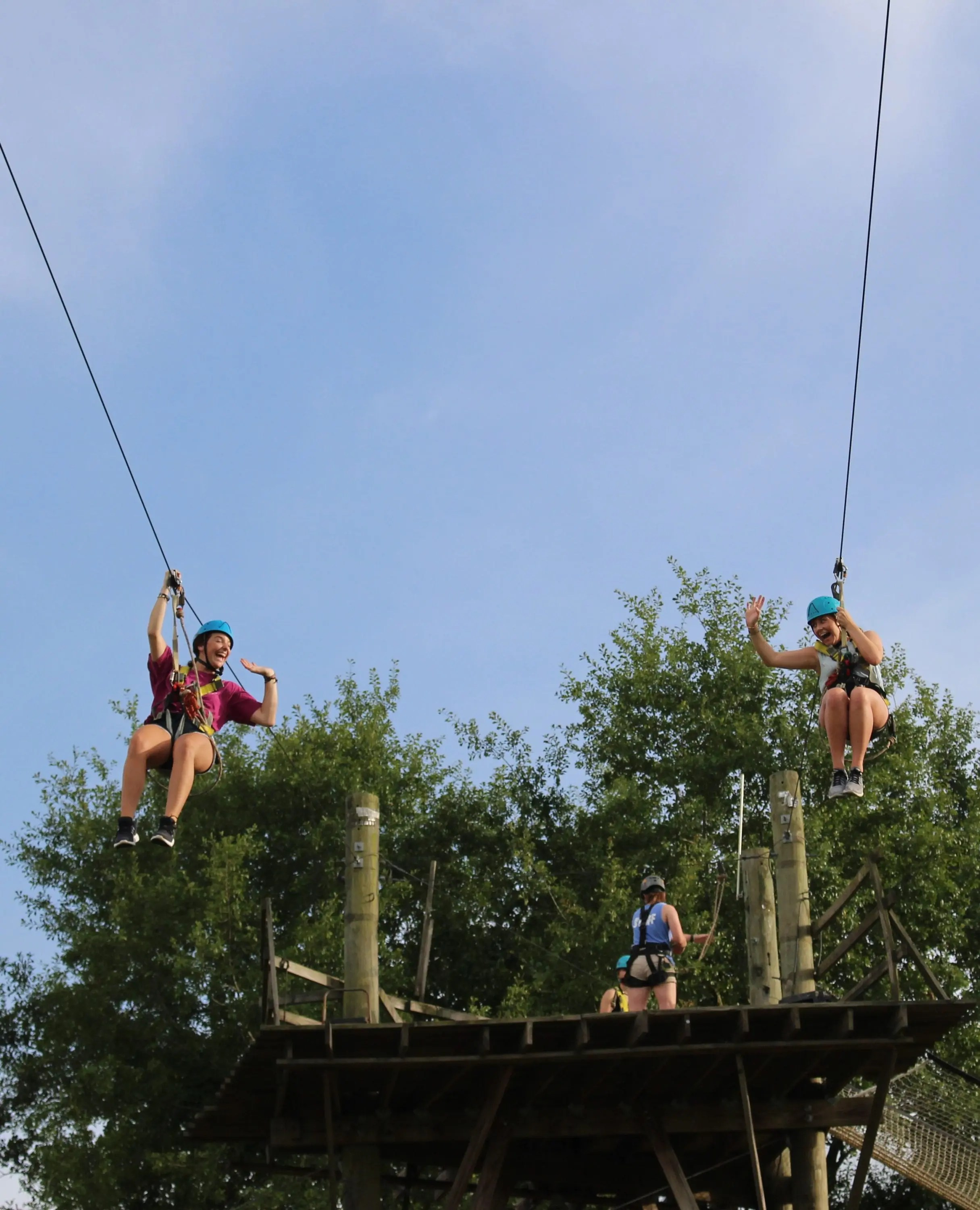 double zipline at Butter and Egg Adventures