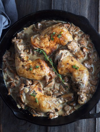 Chicken-with-Chanterelle-Mushrooms-Cream-Sauce | www.butterandthings.com