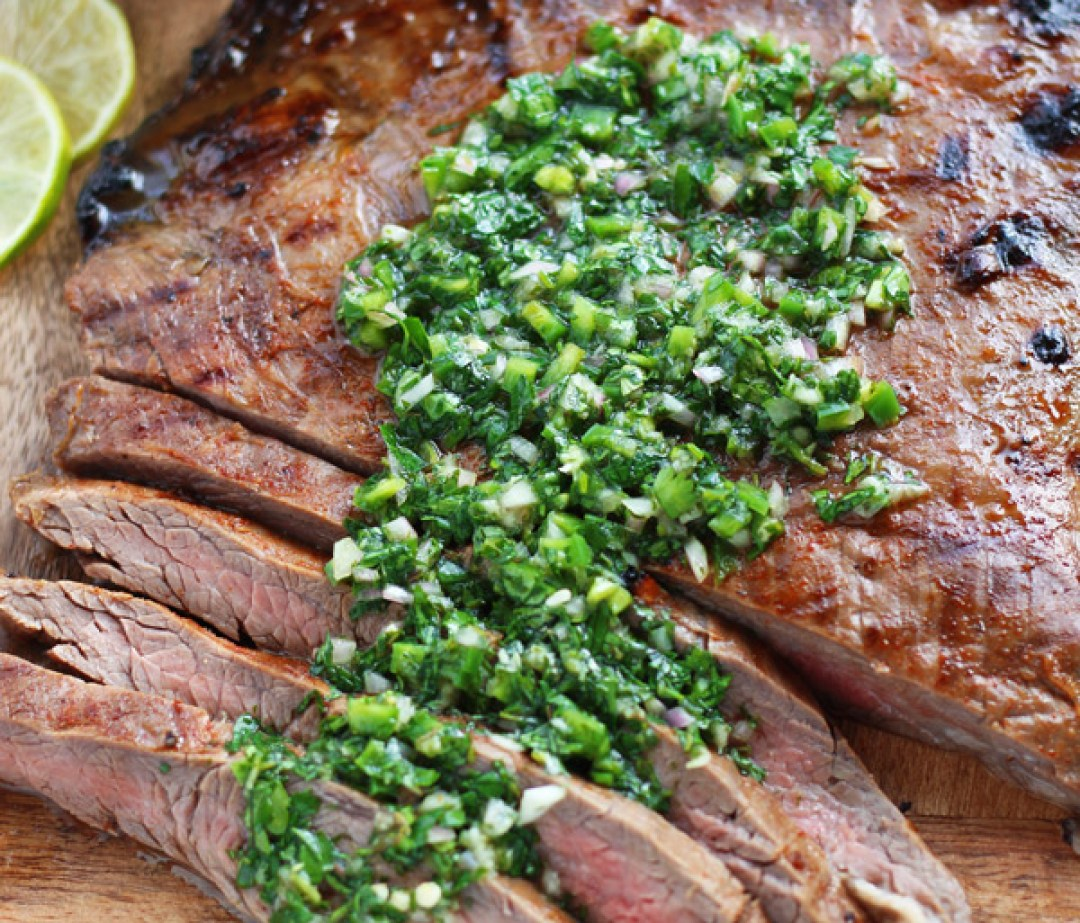 Grilled-Flank-Steak-with-Chimichurri-Sauce-1 | www.butterandthings.com