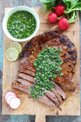 Grilled-Flank-Steak-with-Chimichurri-Sauce | www.butterandthings.com