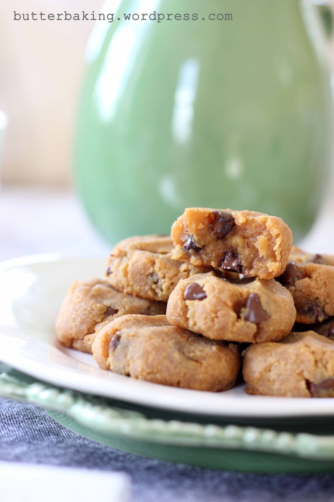 Healthy Protein Peanut Butter Chocolate Chip Cookie Dough Balls   Butter Baking