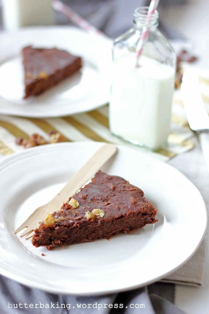 Walnut Chocolate Chip Bean Brownie Cake | Butter Baking