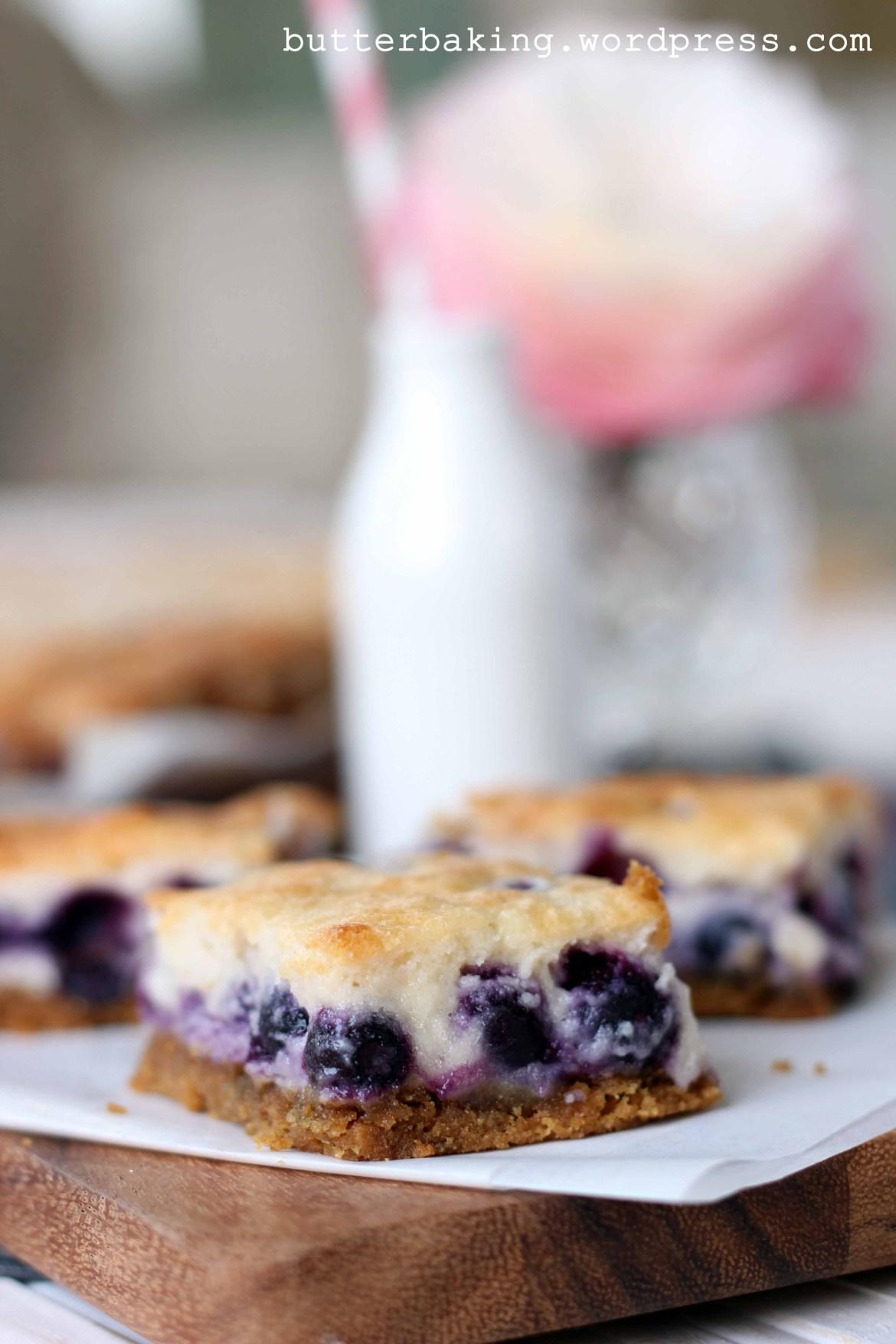 Blueberry Custard Pie Bars | Butter Baking