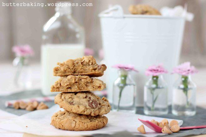 Choc Oatmeal Peanut Butter Chip Cookies | Butter Baking