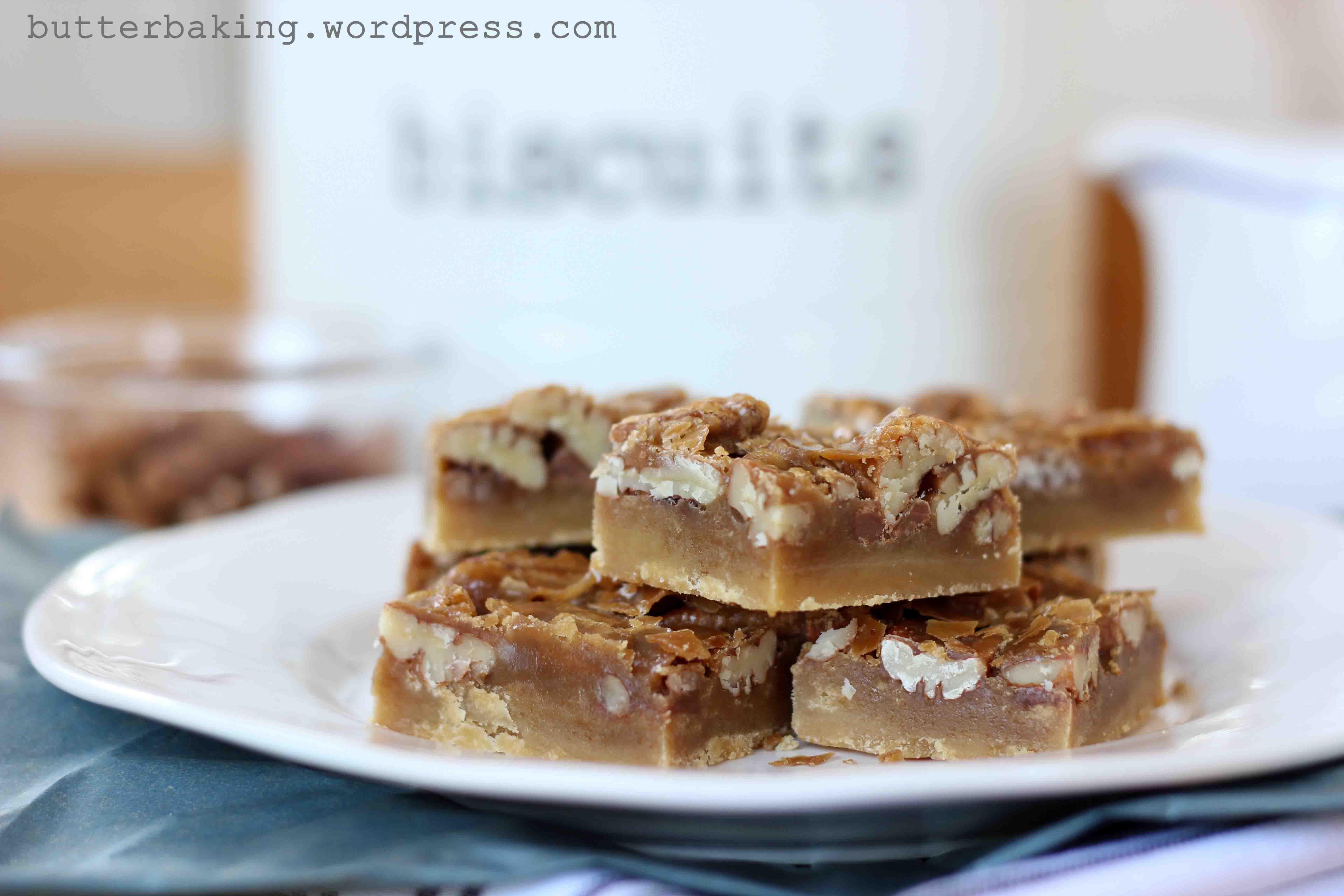 Caramel Pecan Shortbread Pie Bars – Butter Baking