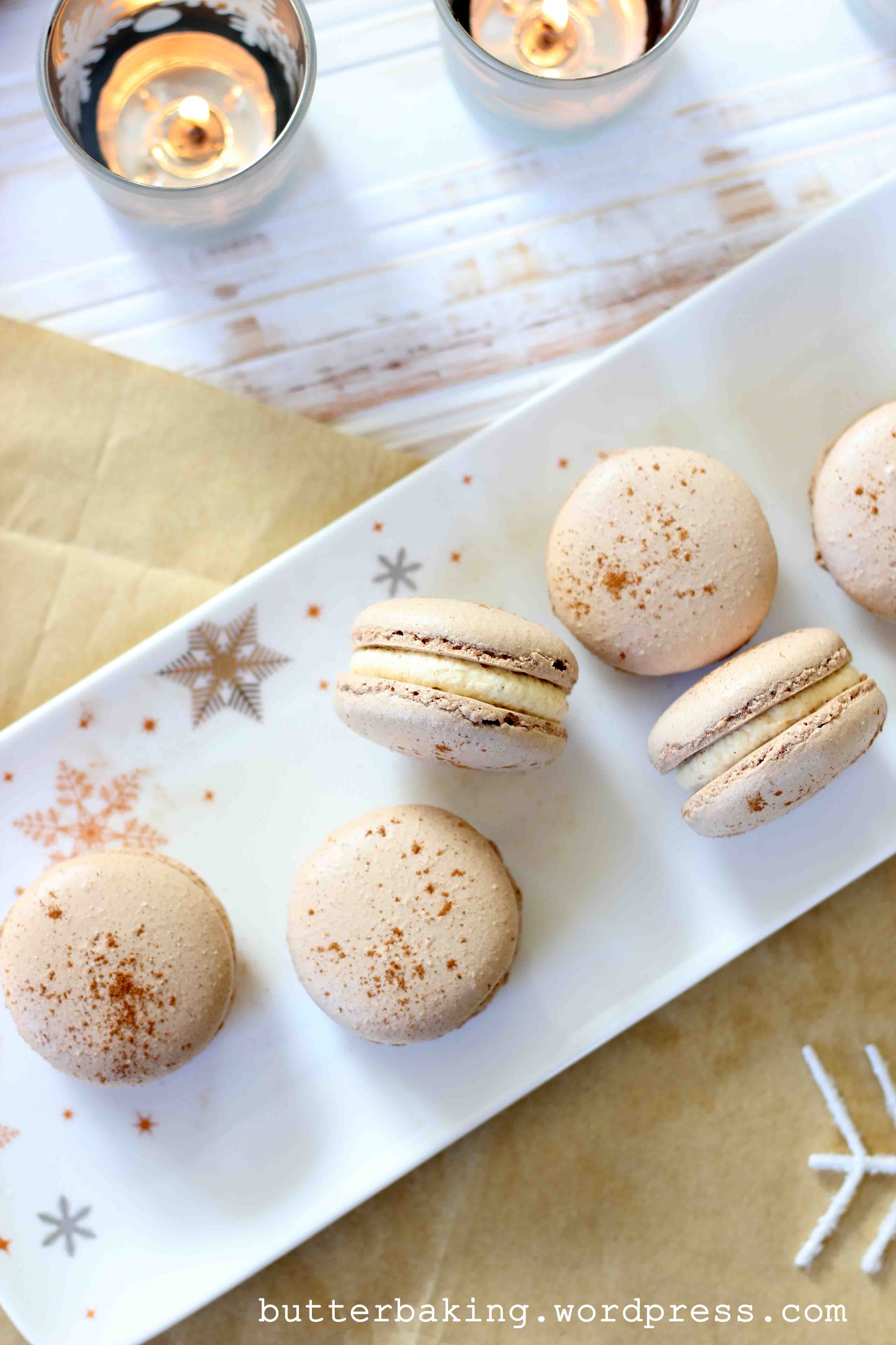 Gingerbread Macarons with Eggnog Buttercream – Butter Baking