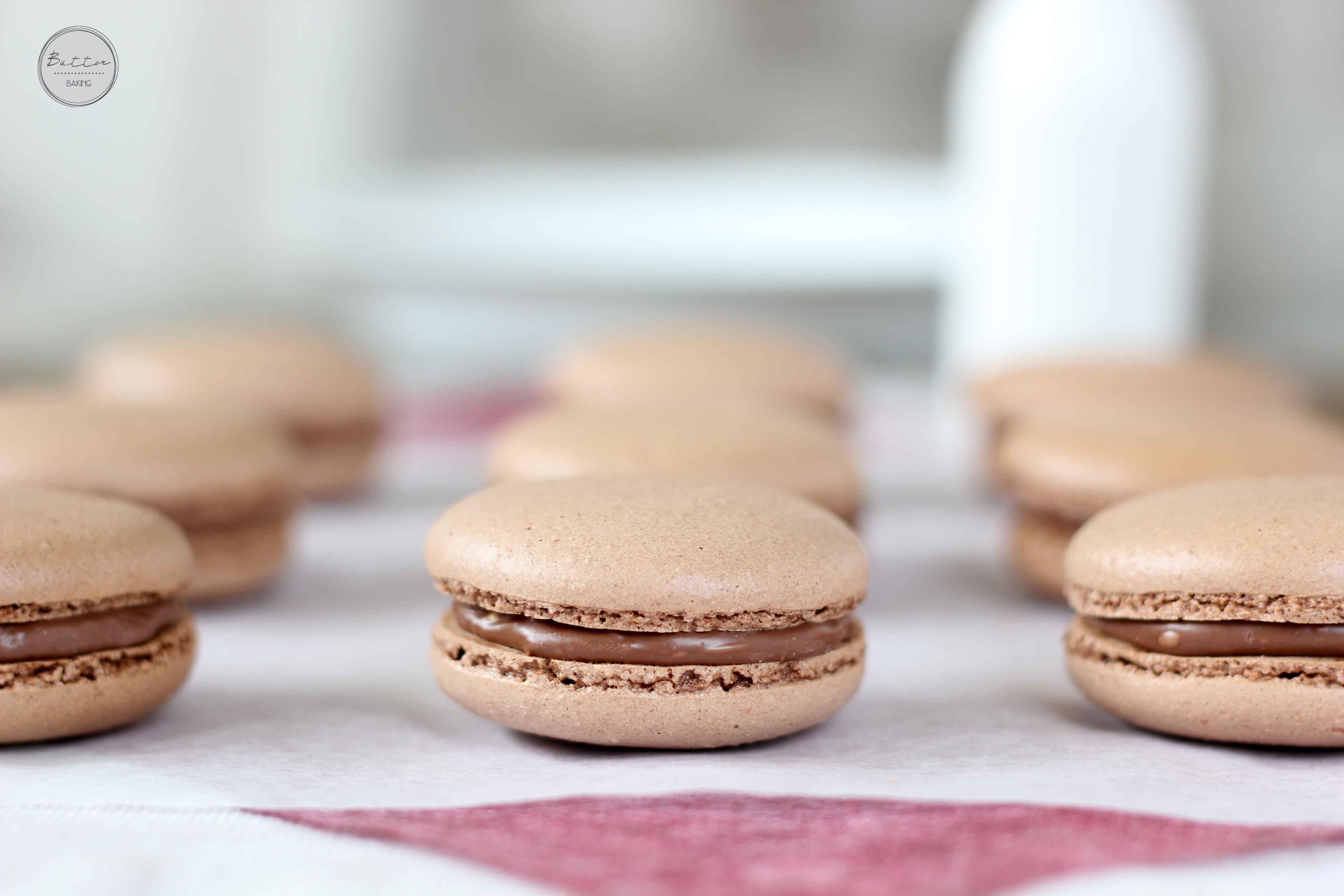 Chocolate Hazelnut Macarons – Butter Baking
