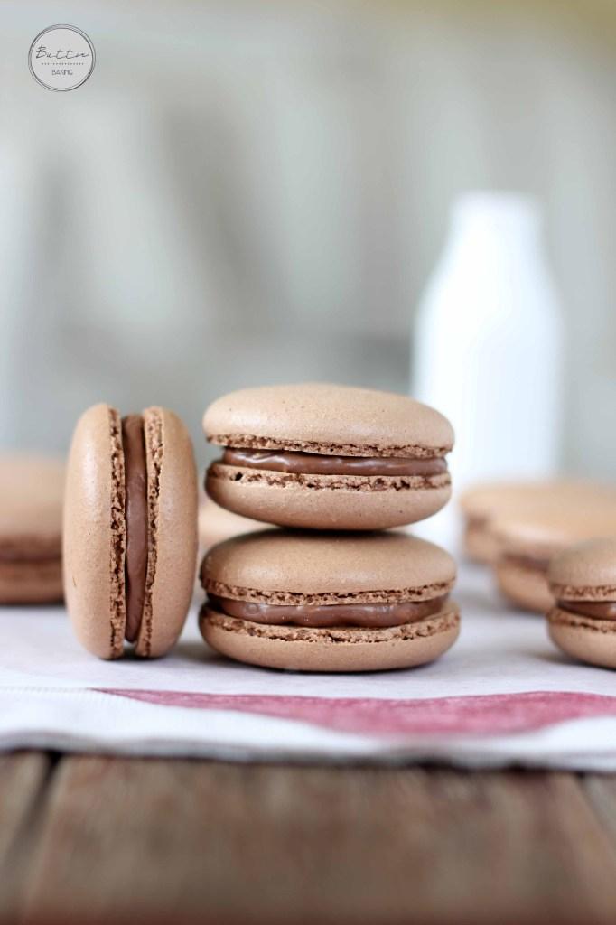 Chocolate Hazelnut Macarons | Butter Baking