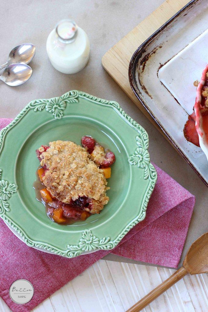 Peach and strawberry cobbler | Butter Baking