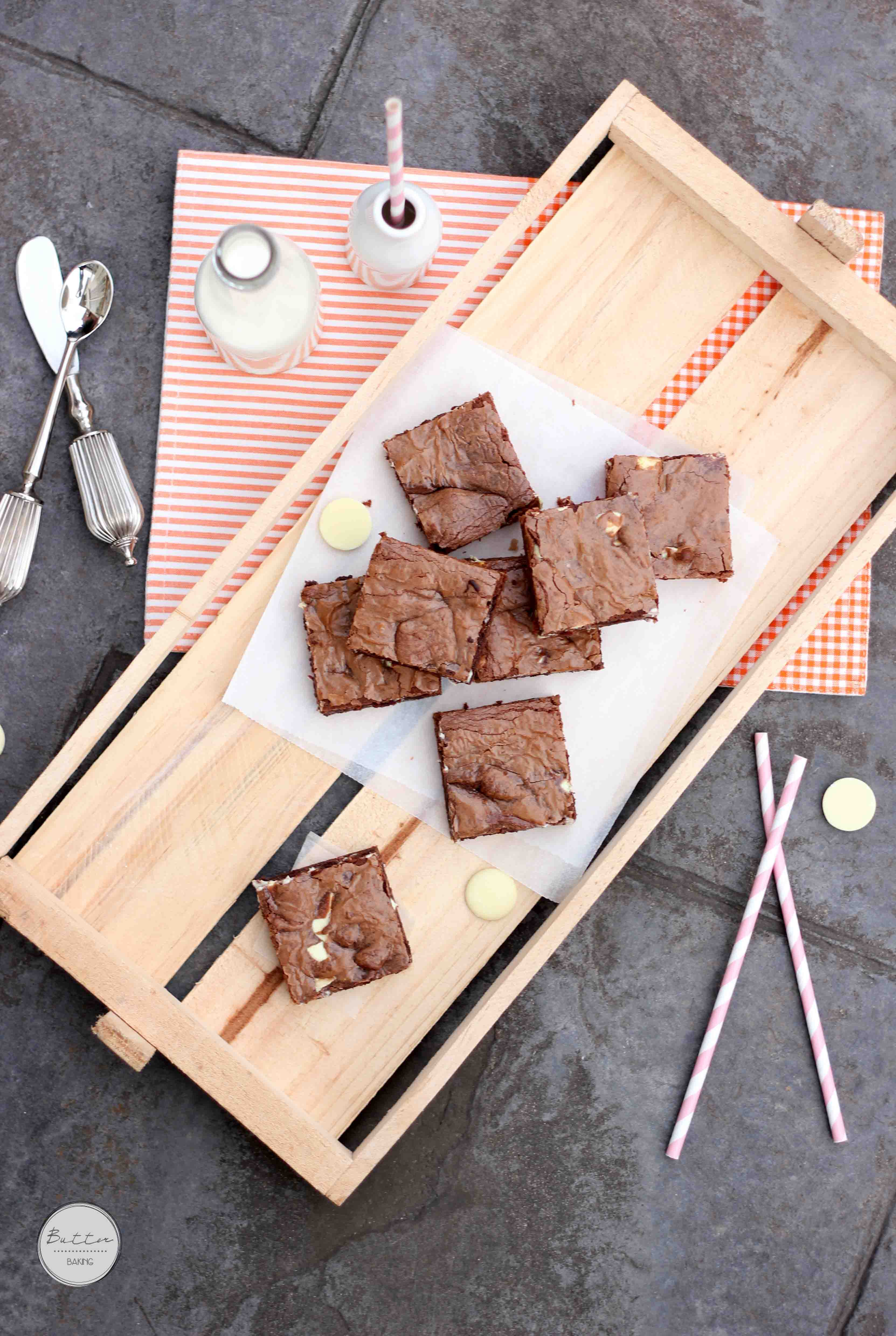 White Chocolate Chip Easy Nutella Brownies [with a Video] – Butter ...