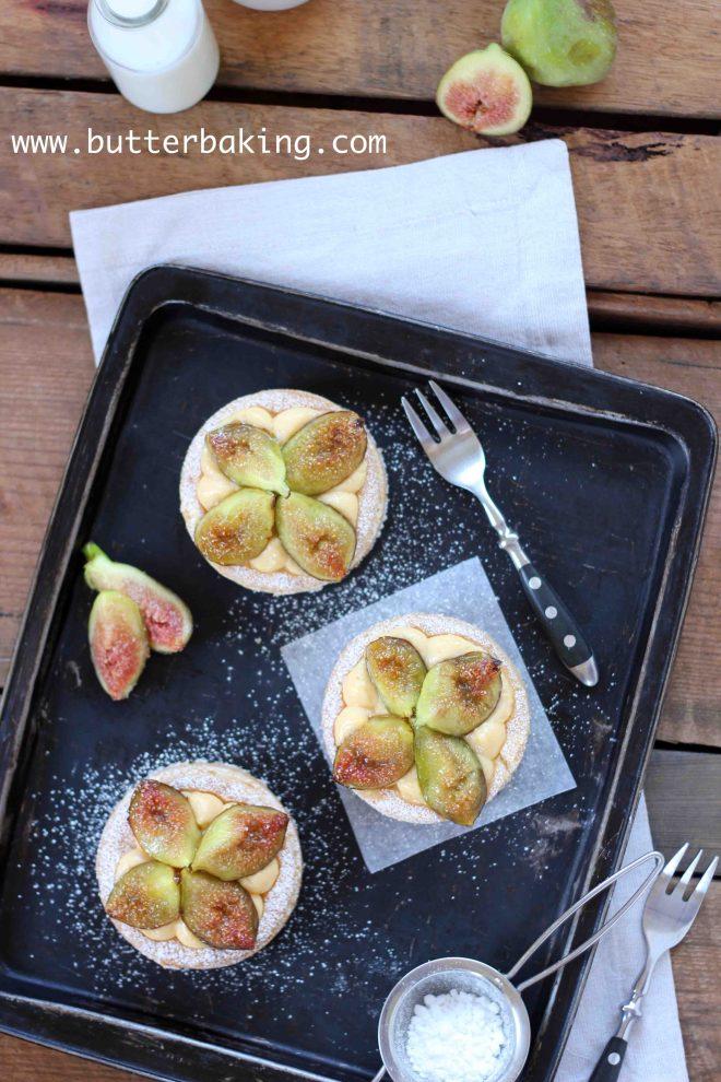 Brûlée Fig and Custard Tart | Butter Baking