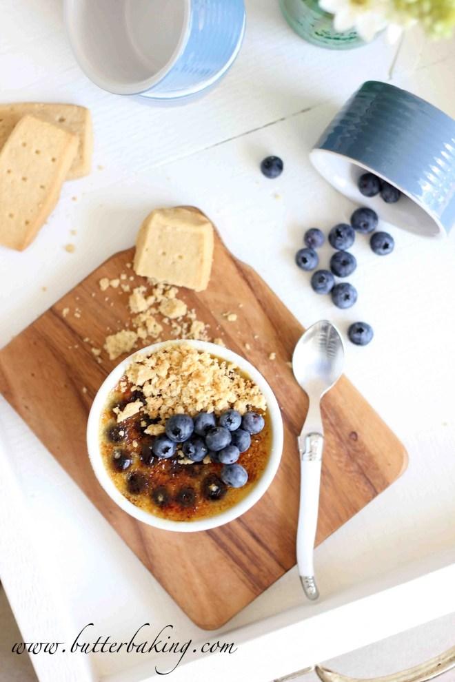 Blueberry Creme Brûlée with Brown Sugar Shortbread | Butter Baking