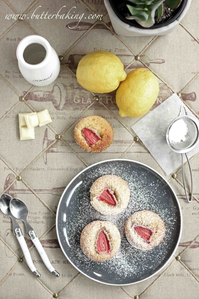 Strawberry, White Chocolate and Lemon Friands | Butter Baking