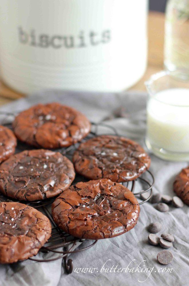 Flourless Double Chocolate Fudge Cookies | Butter Baking