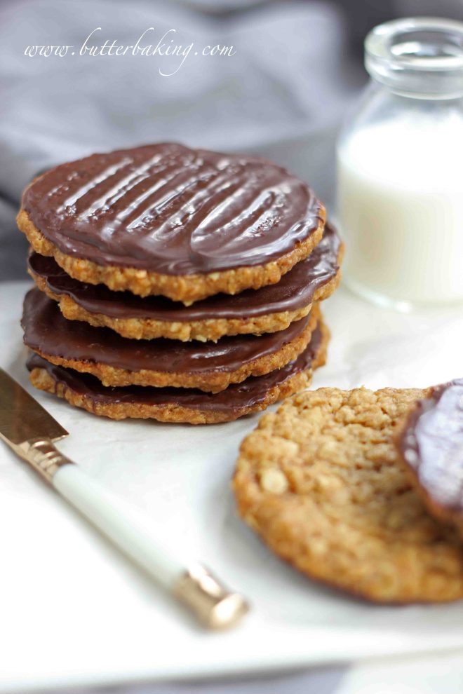 Chocolate Hobnobs (Oat Cookies) | Butter Baking