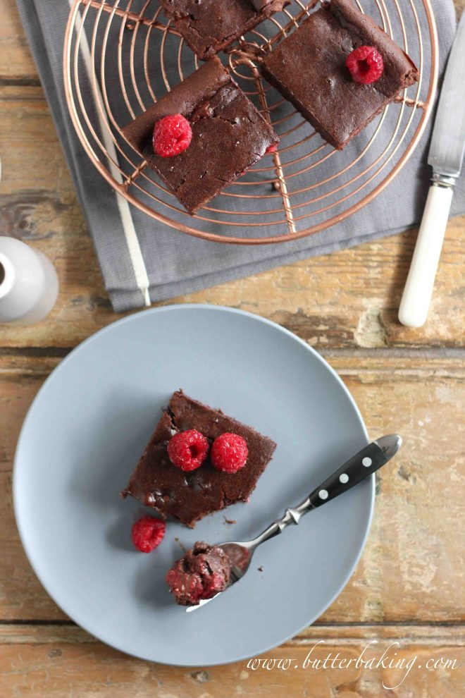 Healthy Chocolate Raspberry Brownies with Video [Gluten and Dairy Free] | Butter Baking