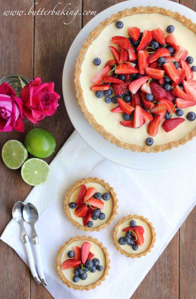 Berry and Lime Panna Cotta Tart | Butter Baking