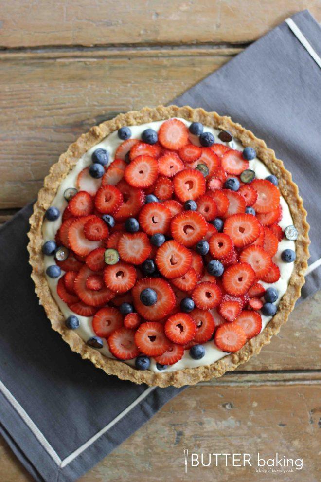 No-Bake Berry Cheesecake Tart | Butter Baking