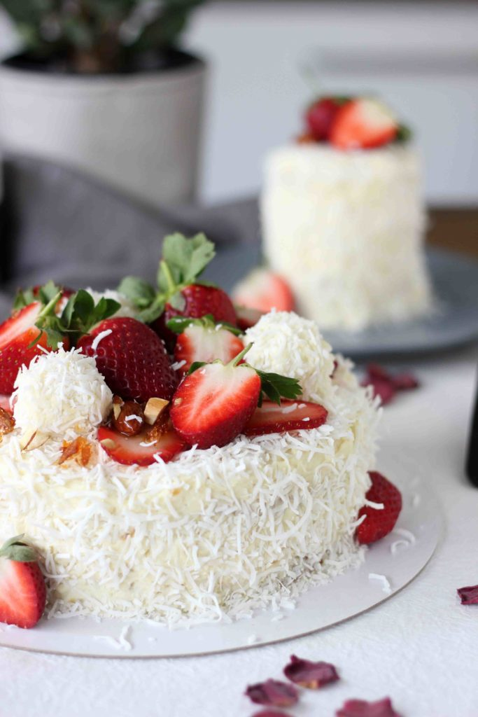 Pleasing White Chocolate Coconut Raffaello Layer Cake Butter Baking Funny Birthday Cards Online Alyptdamsfinfo