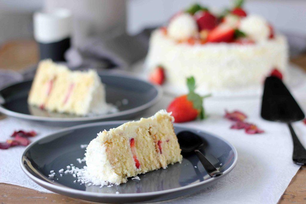 White chocolate coconut Raffaello cake | Butter Baking