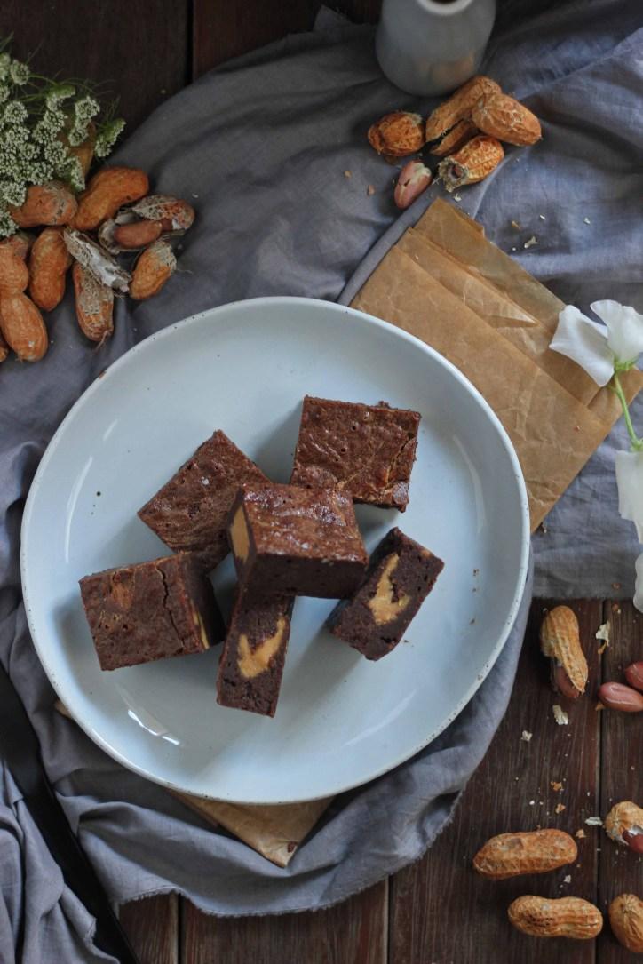 Peanut Butter Swirled Brownies | Butter Baking