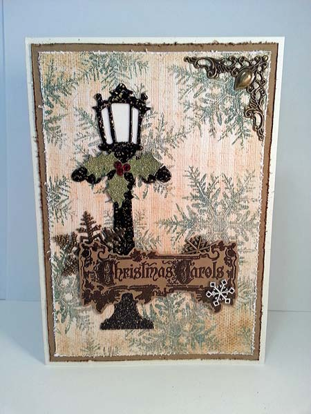Tim Holtz Holiday Lamppost Christmas Card